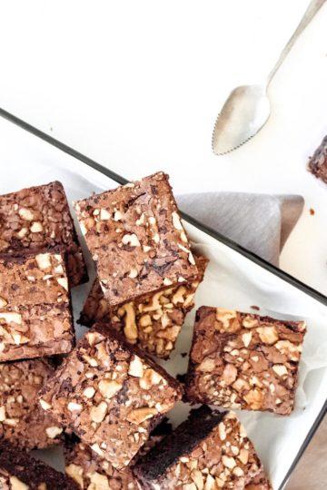 Brownies con Nueces y Sal Gruesa