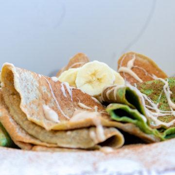 Fit Pancakes de Banana y Espinaca