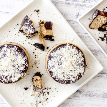 Cheesecake de Baileys y Ganache de Chocolate Negro