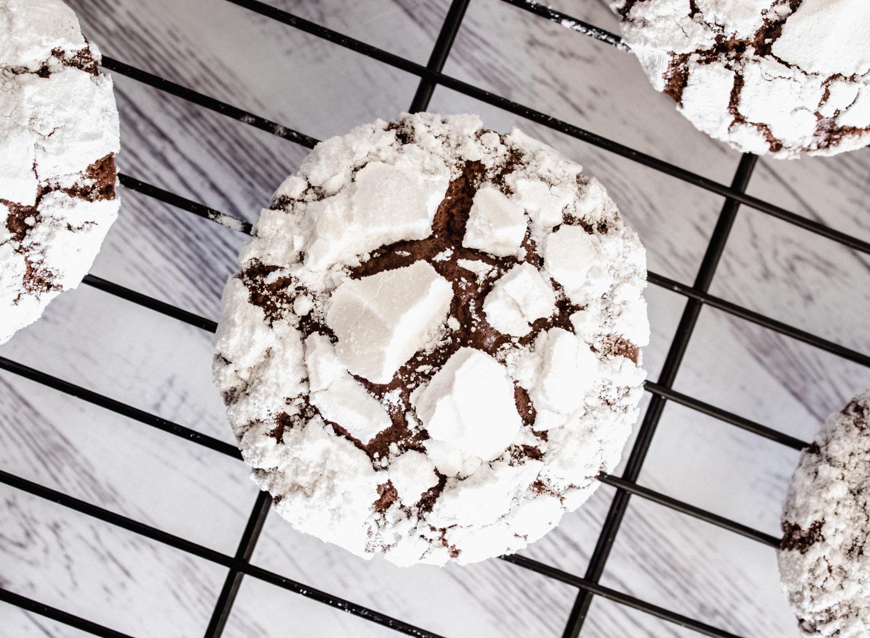 Galletas Nevadas de Chocolate