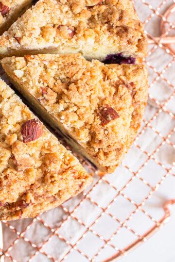 Cake de Arándanos y Crumble de Almendras